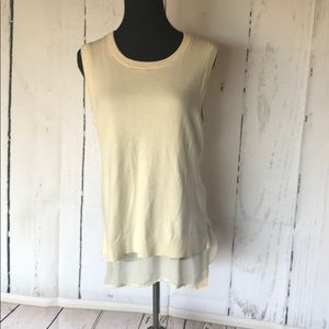 Banana republic sleeveless sweater w sheer bottom